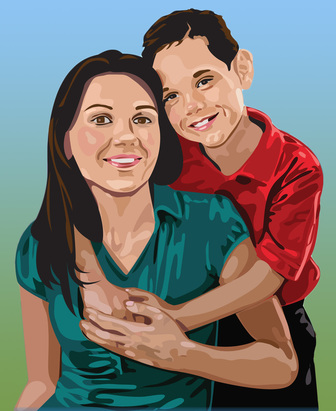 susan spangler, illustration, portraits, children